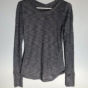 Lululemon gray long sleeve running shirt